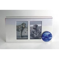 Photo frame in silver plate